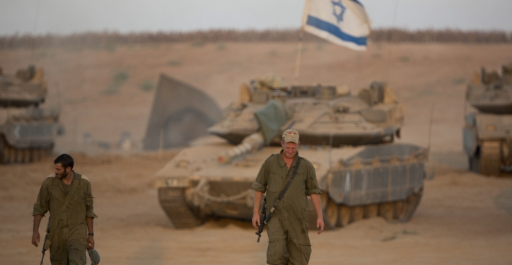 Israeli soldiers seen at a deployment area near the border with the Gaza Strip on August 25, 2014. Photo by Yonatan Sindel/Flash90 *** Local Caption ***   ????? ???? ??? ????  ?????? ??????? ???? ????? ??? ????? ?????? ???? ???