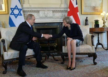 Israeli prime minister Benjamin Netanyahu meets with UK prime minister Teresa May, at Downing St 10, in London, United Kingdom. PM Netanyahu is on official state visit. February 06, 2017.  Photo by Kobi Gideon / GPO *** Local Caption *** ??? ?????? ?????? ??????  ???? ?? ???? ????? ??????? ???? ??? ???? ??????? 10 ??????