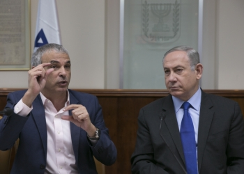 Israeli prime minister Benjamin Netanyahu with Finance Minister Moshe Kahlon during the weekly cabinet meeting at his office in Jerusalem, on February 19, 2017. Photo by Olivier Fitoussi/POOL *** Local Caption *** ????? ????? ?????? ?????? ??? ?????? ???? ?? ????? ??? ?????