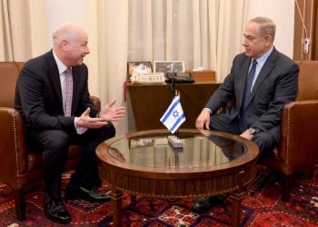 "Israeli Prime Minister Benjamin Netanyahu (R) meets with Jason Greenblatt, Donald Trump special representative for international negotiations at the Prime Minister's Office in Jerusalem, March 13, 2017. Matty Stern/U.S. Embassy Tel Aviv *** Local Caption *** ??? ??????  ?????? ??????  ???? ?????? ?? ???? ???""?  ??? ???? ???""? ?'????? ???????"