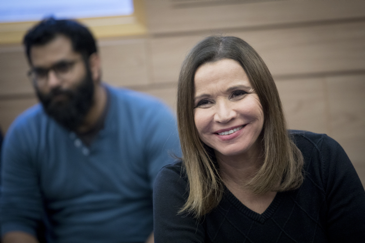 Zionist Camp party member Shelly Yachimovich attends at a faction meeting in the Israeli parliament on February 6, 2016. Photo by Yonatan Sindel/Flash90 *** Local Caption *** ????? ???? ???? ??? ???????? ??? ????????'