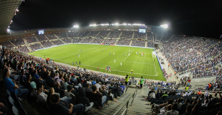 The crowd cheer during the Euro 2016 qualifying football match between Israel and Cyprus at the Teddy Stadium in Jerusalem, on October 10, 2015. Photo by Flash90 *** Local Caption *** ??????? ??? ???? ?????? ??????? ???? 2016 ????? ????? ??????? ???? 2016