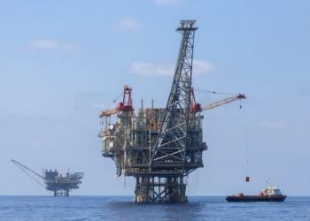 A view of the Israeli 'Yam Tethys' gas processing rig near the Israeli southern coast of Ashkelon on September 2, 2015. Photo by Flash90 *** Local Caption *** תטיס נובל אנרג'י אסדת הגז מול חופי אשקלון קידוח אנרגיה נובל אנרגי אסדה ים תיכון גז