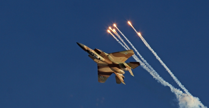 "Aerobatic display of the F-15I fighter jet named as Ra'am, Hebrew for Thunder, during the IAF (Israeli army Air Force) flight course 166 graduation ceremony in the Hatzerim Air Base in the Negev desert, southern Israel, on June 23, 2013. Photo by Ofer Zidon/Flash90 *** Local Caption *** ??? ????  ???-? ????? ??""?  ????? ???? ??? ??? ???? ???? ????? ???? ???? ??? ?????"