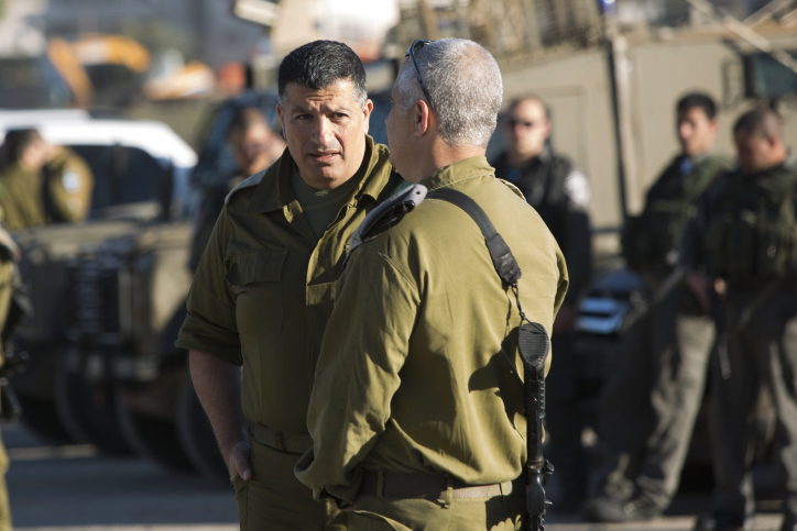 "IDF spokesman, Brigadier General Yoav (Poly) Mordechai seen at the Bitunia crossing during a visit of IDF chief of staff Benny Gantz near the west bank city of Ramallah. February 27, 2013. Photo by Yonatan Sindel/Flash90 *** Local Caption *** ??? ??? ??? ????""? ???? ??????? ????? ?????? ???? ????? ???? (????) ?????"