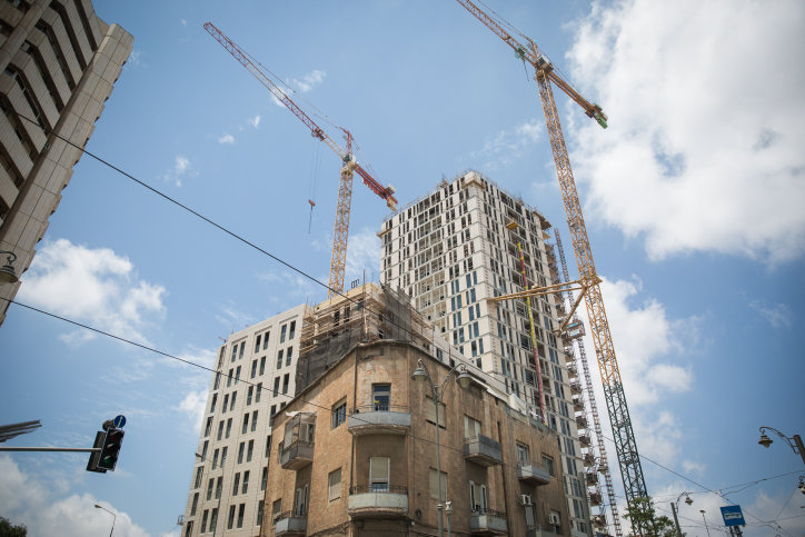 A large building under construction in central Jerusalem, on June 21, 2017. Photo by Hadas Parush/Flash90 *** Local Caption *** ??????? ???? ???? ????? ????? ????? ????? ??? ???