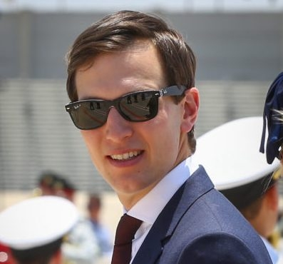 "Senior Advisor to US president Donald Trump, Jared Kushner, at a welcoming ceremony for president Trump as he arrives at Ben Gurion Airport near Tel Aviv on May 22, 2017, for his first official visit to Israel since becoming US president. Photo by Shlomi Cohen/FLASH90 *** Local Caption *** ארצות הברית ארהב  ארה""ב דונלד טראמפ נשיא אמריקה ג'ארד קושנר ראובן ריבלין משמר הכבוד"