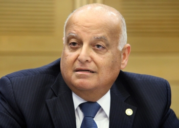 Arab-Israeli judge on the Israeli Supreme Court Salim Joubran, appointed the new head of the Israeli electoral committee, seen in the Israeli parliament. May 22, 2013. Photo by Isaac Harari/FLASH90 *** Local Caption *** ???? ??????? ???? ?'????? ???? ??? ???? ???? ??? ???? ??????? ???????