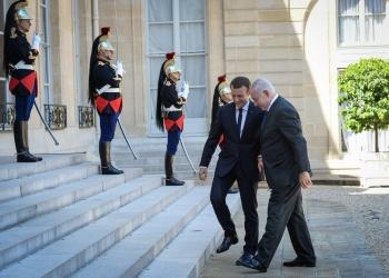 "Prime Minister Benjamin Netanyah meets with French President Emmanuel Macron at the Elysee Palace, in Paris, France, on July 16, 2017. Photo by Haim Zach / GPO *** Local Caption *** ראש הממשלה בנימין נתניהו מתקבל בארמון האליזה ע""י נשיא צרפת עמנואל מקרו פריז"