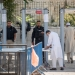 """Muslim worshippers pass newly places metal detectors to enter the Temple Mount for their noon prayers at the Lion's Gate, in Jerusalem's Old City. The Temple Mount was reopened following last weeks terror attack when two Israeli Arabs opened fire and killed two Israeli police men. July 19, 2017. Photo by Yonatan Sindel/Flash90 *** Local Caption *** ?? ???? ????? ????? ????? ????????? ?????? ??""""? ??????? ???????"""