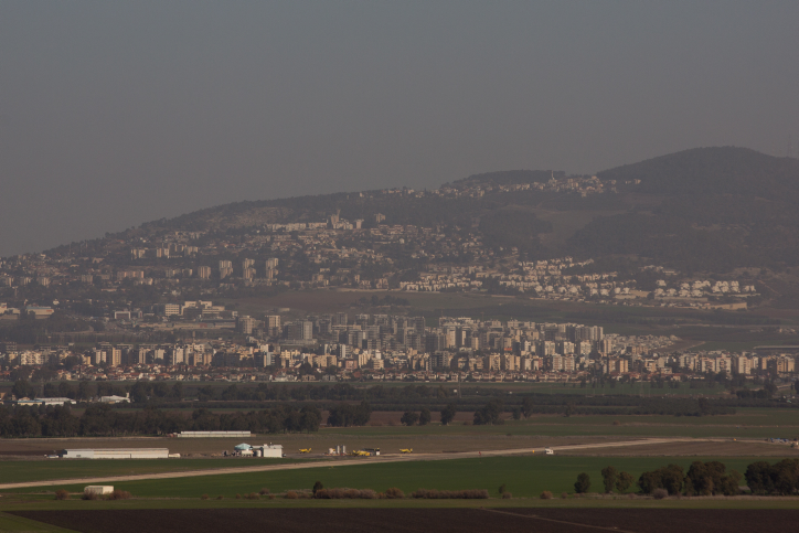 View of the Northern Israeli city of Afula, January 12, 2017. Photo by Yonatan Sindel/Flash90 *** Local Caption *** ??? ?????? ??? ????? ????? ??? ????