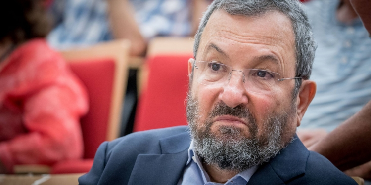 Former Israeli prime minister Ehud Barak attends a conference marking the 50th anniversary of the Six-Day War, at the Ben Zvi Institute in Jerusalem on June 5, 2017. Photo by Yonatan Sindel/Flash90 *** Local Caption *** כנס ששת הימים מלחמה שר הביטחון יד בן צבי מדבר אהוד ברק