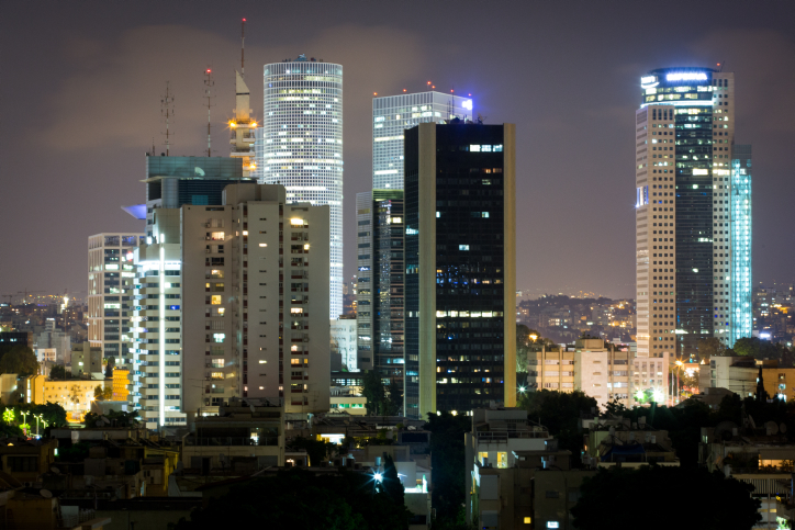 View of Tel Aviv at night.  August 29, 2016. Photo by Miriam Alster/FLASH90 *** Local Caption *** ?? ???? ???? ??? ?????? ???????