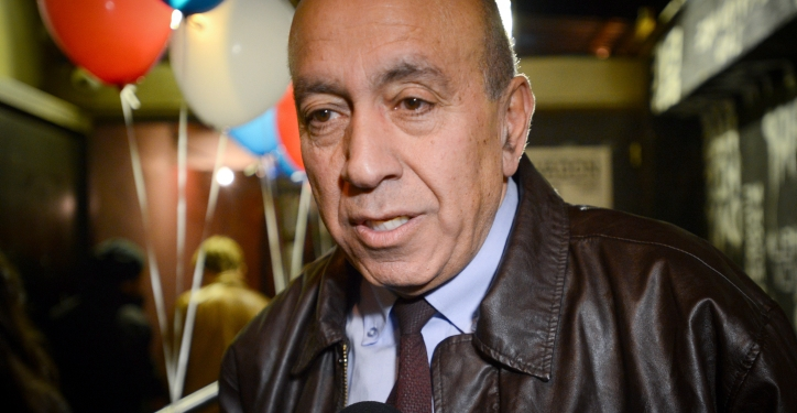 """Zohir Bahalul of Hamahane Hatzioni Party attends a party meeting in a Tel Aviv bar to celabrate the launch of 2015 general elections campaign on January 17, 2015. """"Hamahane haTzioni"""" is the combined name of the Israel Labor party and the 'Hatnuah' party, who agreed on a joint list in the upcoming Israeli elections. Photo by Gili Yaari / FLASH90 *** Local Caption *** ?????? 2015 ???????? ????? ????? ?????? ????? ?????? ????? ??????? ??? ?????? ???? ?????"""