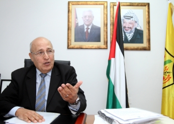 """Dr. Nabil Shaath, the Commissioner for External Relations of the Fatah movement, seen in his office in the West Bank city of Ramallah. January 18, 2012. Photo by Miriam Alster/FLASH90  *** Local Caption *** ???? ???  ?????? ? ?????? ??""""?"""