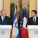 """Prime Minister Benjamin Netanyah (L) and French President Emmanuel Macron hold a joint press conference at the Elysee Palace, in Paris, France, on December 10, 2017. Photo by Avi Ohayon/GPO *** Local Caption *** ??? ?????? ?????? ?????? ????? ?????? ?????? ?""""? ???? ???? ?????? ???? ????"""