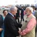 "Israeli Prime Minister Benjamin Netanyahu with his Indian counterpart Narendra Modi during a farewell ceremony in his honour at the Ben Gurion International Airport in Tel Aviv on July 06, 2017. Photo by Kobi Gideon/GPO *** Local Caption *** ??? ?????? ?????? ?????? ???? ???? ????? ???? ?????? ???? ???? ?????? ??????, ???? ????? ????""?."