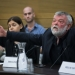Knesset Members Karin Elharar and Ilan Gilon attend a committee meeting discussing the budget crisis at the Israeli Parliament in Jerusalem on December 11, 2017. Photo by Hadas Parush/Flash90 *** Local Caption *** ???? ???? ????? ????? ??????? ???? ????? ????? ???? ??????