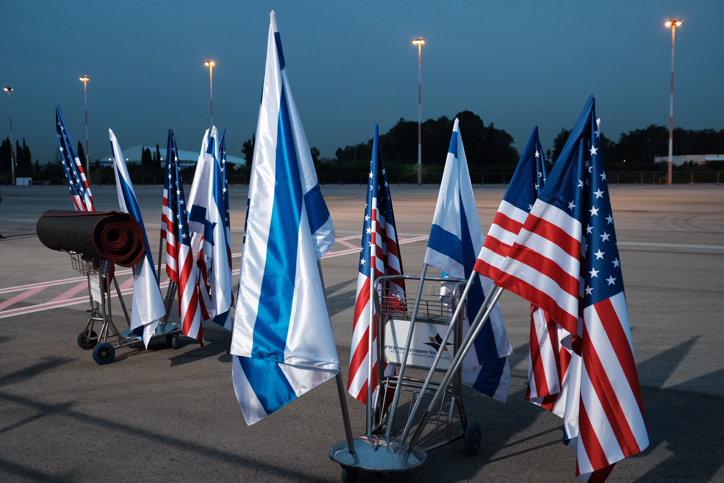 Preparations at Ben Gurion International Airport ahead of the arrival of  US vice president Mike Pence,  later today. january 21, 2018. Photo by Tomer Neuberg/FLASH90 *** Local Caption *** ??? ???? ????? ????? ???? ??? ?? ?????? ??? ?????
