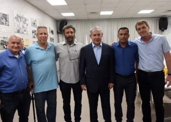 """Prime Minister Benjamin Netanyahu meets with heads of local authorities from the Gaza envelope during his visit in Sderot on July 16, 2018. Photo by Haim Zach / GPO ***GOVERNMENT PRESS OFFICE HANDOUT, EDITORIAL USE ONLY/NO SALES*** *** Local Caption *** ??? ?????? ?????? ?????? ???? ????? ?? ?????? ?? ???? ?????? ????? ???. ?????: ???? ?? / ??""""? ??? ?????? ??????? ?????? ????"""