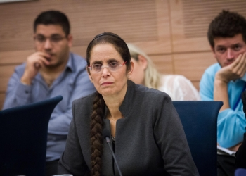 Likud parliament member Anat Berko attends a discussion regarding a legislation deferring mandatory haredi conscription until 2023, at a Foreign Affairs and Security committee meeting in the Israel parliament. November 19, 2015. Photo by Miriam Alster/FLASH90  *** Local Caption *** ???? ???? ???? ????? ????? ???? ????? ??? ????? ???? ??? ?????? ?????  ??? ????