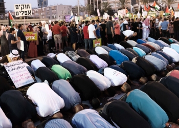 Arab Israelis and activists protest against the 'Jewish Nation-State law' in Rabin Square, Tel Aviv on August 11, 2018. Photo by Tomer Neuberg/Flash90 *** Local Caption *** ????? ??????? ?????? ????? ??? ??? ????? ???? ??????? ?????? ?????? ???? ????