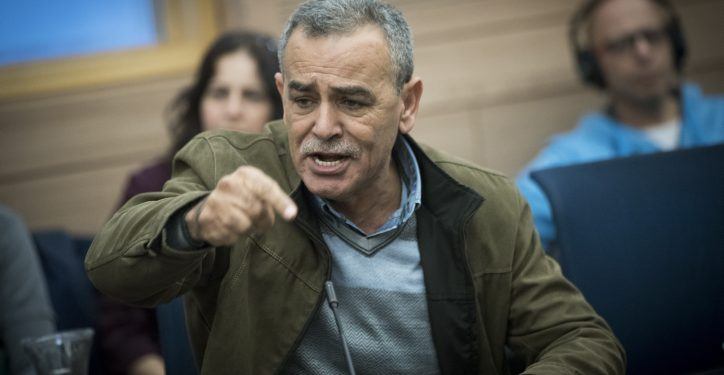 MK Jamal Zahalka attends a Status of Women and Gender Equality Committee meeting in the Israeli parliament on December 13, 2016. Photo by Yonatan Sindel/Flash90  *** Local Caption *** ?????? ?????? ???? ?????  ?????? ?????? ??????  ????? ?'??? ??????