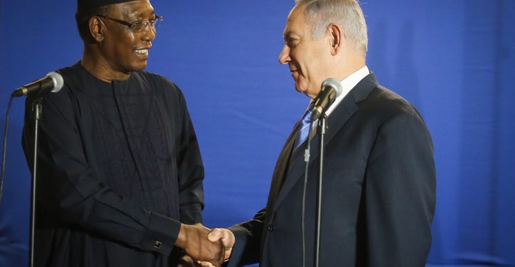 Prime Minister Benjamin Netanyahu hosts Chad's President Idriss Deby Itno at the prime ministers residence in Jerusalem on November 25, 2018. Photo by Marc Israel Sellem/POOL *** Local Caption *** ???? ?'?? ?????? ???  ?????? ?????? ??? ????? ?????