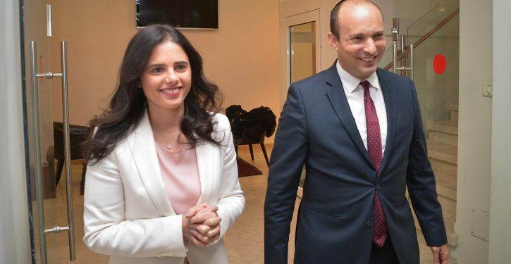 Israeli Minister of Education Nafatli Bennett and Justice Minister Ayelet Shaked seen after a statement during a press conference in Tel Aviv on December 29, 2018. Photo by Yossi Zeliger/Flash90 *** Local Caption *** ????? ??? ????? ??? ????? ??????  ????? ????????
