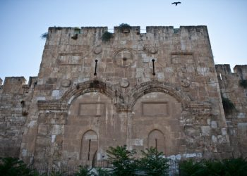A view of the Golden gate (harahamim) near the Muslim cemetery, in Jerusalem'd Old City. Aug 15, 2012 Photo by Noam Moskowitz/FLASH90 *** Local Caption *** ??? ??????  ?????  ???????  ??? ??????
