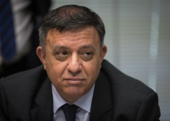 Zionist Union party co-chairman Avi Gabai at a faction meeting at the Knesset, the Israeli parliament on July 9, 2018. Photo by Hadas Parush/Flash90 *** Local Caption *** ???? ????? ???? ???? ??? ????? ?????? ??? ???? ??????