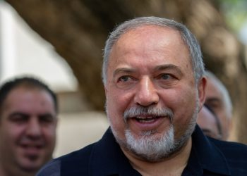Israeli minister of Defense Avigdor Liberman gives a statement to the media during his visit in Katzrin, May 11, 2018. Photo by Basel Awidat/Flash90 *** Local Caption *** ?? ??????? , ??????? ?????? , ??????? ????? ?????? ?????? ?????
