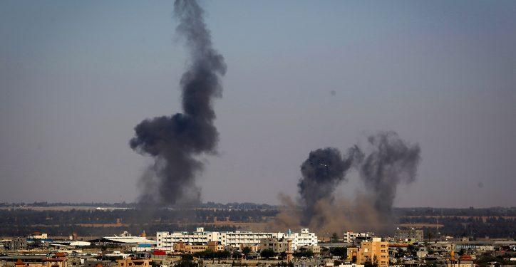 Smoke rises following an Israeli air strike in Rafah in the southern Gaza Strip on May 4, 2019. Photo by Abed Rahim Khatib/Flash90 *** Local Caption *** ??? ??????? ??????? ????????? ????????? ????? ??? ????? ?? ???