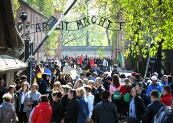 """Jewish Youth from all over the world participating in the March of the Living visit the Auschwitz concentration camp, in Poland, as Israel marks annual Holocaust Memorial Day, on May 1, 2019. """"The March of the Living"""" is an annual educational program that brings students from all over the world to Poland, to learn more and closely about the Holocaust. Photo by Yossi Zeliger/Flash90  *** Local Caption *** ??? ????? ????? ???? ????? ???? ????? ???? ????? ???????"""