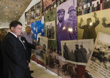"""Chairman of the Israeli parliament Yuli Edelstein looks at pictures as he visits a photo exhibition of pictures taken by Wehrmacht soldiers  at the Knesset, Israel's Parliament in Jerusalem, April 28, 2014. Israel on Monday marks the annual memorial day commemorating the six million Jews killed by the Nazis in the Holocaust during World War Two. Photo by Flash90 *** Local Caption *** ???? ???? ???????? ???? ??""""? ????? ??? ????? ?????: ???? 90  ?????? ??????? ?? ????? ??????? ????? ????? ?????? ??????? ?? ????? ??????? ??? ???? ?? ????? ????? ??????? ?????? ???? ????? ???? ????? ???? ???? ??????? ???????? ????? ???? ??????? ??????? ????? ?????? ??? ???? ???? ????? ???? ?????? ????????? ??????? ?? ????? ??????? ????? ????? ???? ???? ?? ?????? ??????? ??????? ???? ????? ?????? ????? ???? ???? ????? ???????? ?????? ????????? ??????? ????? ?????? ???? ?????? ???? ??????  ???? ??? ????? ???? ???? ???????? ????? ???????"""