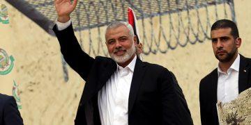 Hamas leader Ismail Haniya arrives to a rally celebrating Hamas 31th anniversary, in Gaza City, on December 16, 2018,  Photo by Abed Rahim Khatib/Flash90 *** Local Caption *** ???? ??? ??????? ??????? ????????? ???? ??? ??? ??? ??????? ???? ???????? ????