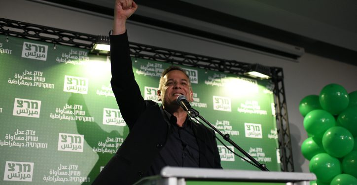 Nitzan Horowitz, the newly voted head of Israeli Left wing Meretz party, reacts as he carries a victory speach, right after publication of election results in Tel Aviv, June 27, 2019. Photo by Gili Yaari/Flash90  *** Local Caption *** ????? ??? ???? ??????? ???? ???????? ?????? 2019 ???? ???  ?????? ????