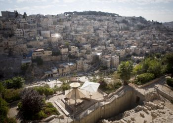 View of the East Jerusalem neighborhood of Silwan, with city of David in the foreground. October 01, 2014. Photo by Miriam Alster/FLASH90 *** Local Caption *** ???????  ?????? ??? ??? ???? ???????