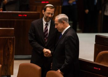 Israel's Prime Minister Benjamin Netanyahu (R) shakes hands with Likud-Beyteinu party MK Moshe Feiglin (L), after speaking during a special session marking the 37th anniversary of Entebbe Raid, at the Knesset, Israel's parliament in Jerusalem, on July 2, 2013. Operation Entebbe was a rescue mission performed by several Israel Defense Forces units in Uganda on July 4th 1976, for the liberation of 98 Jewish and Israeli hostages that were on board an Air France aircraft that was hijacked by Palestinian and German terrorists on June 27th, 1976. Operation Entebbe is sometimes referred to retroactively as 'Operation Jonathan' in memory of Yonatan Netanyahu, who was the older brother of Israel's Prime Minister Benjamin Netanyahu and the commander of the elite Israeli military unit sent for the mission. Yoni Netanyahu was the only Israeli soldier killed in the operation. Photo by Flash 90  *** Local Caption *** ????? ? ???? ???? 37 ????  ? ???? ??????  ??? ? ?????  ???? ?????? ?????? ??? ???????