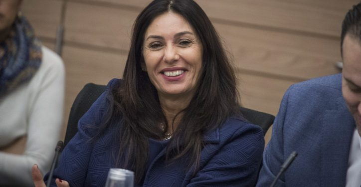 Culture and Sports Minister Miri Regev at the Finance Committee meeting discussing sports and gambling budgets at the Knesset, on November 30, 2016. Photo by Hadas Parush/Flash90 *** Local Caption *** ???? ???? ????? ???? ???? ??? ????? ? ????? ????? ??????? ???? ???? ???? ????