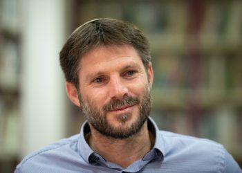 Yamina party member Bezalel Smotrich arrives to cast his ballot at a voting station in Kdumim, during the Knesset Elections, on September 17, 2019. Photo by Sraya Diamant/Flash90 *** Local Caption *** ????? ?????? ???? ??? ????? ???? ????? ??????? ????? ??????