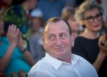 Tel Aviv mayor Ron Huldai, at a kick-off event for his campaign in the upcoming mayoral elections, which will be held next month. September 02, 2018. Photo by Miriam Alster/FLASH90 *** Local Caption *** ??? ???? ?? ???? ?????? ??? ??????