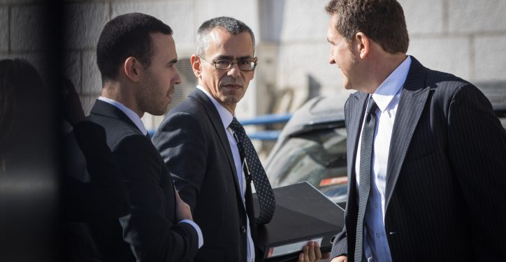 Prime Minister Benjamin Netanyahu's attorney Yossi Ashkenazi arrives at the Justice Ministry in Jerusalem for the hearing on the corruption cases in which Netanyahu is a suspect, on October 2, 2019. Photo by Noam Revkin Fenton/Flash90 *** Local Caption *** ??? ?????? ?????? ?????? ???? ????? ???????? ????? ?????? ?????? ????? ???? ???? ??????? ????? ???? ??????
