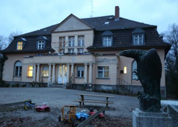 """View of a """"Chabad"""" (orthodox Jewish dynasty) school in Berlin, Germany, formerly used by the Nazis. January 29, 2015. Photo by Yaakov Naumi/Flash90  *** Local Caption *** ?????  ??? ??""""? ?????? ?????? ?????? ???? - ??? ??? ??""""?. ???? ???? ??????? ??????? ?????"""