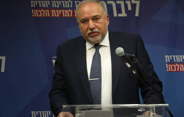 Head of the Israel Beyteinu part Avigdor Liberman leads a faction meeting in the Israeli parilament on November 20, 2019. Photo by Hadas Parush/FLASH90 *** Local Caption *** ??????? ?????? ????? ??????