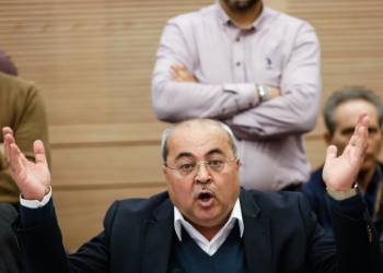 Ahmad Tibi speaks durig the Finance Committee meeting at the Knesset, on December 30, 2019. Photo by Olivier Fitoussi/Flash90 *** Local Caption *** ???? ????? ???? ???? ???? ????