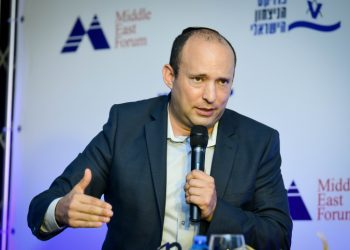 Yamina party member Naftali Bennett speaks during a conference of The Israel Victory Project in Ramat Gan on September 8, 2019. Photo by Flash90 *** Local Caption *** ???????? ??????? ??????? ??? ????? ??? ???? ????