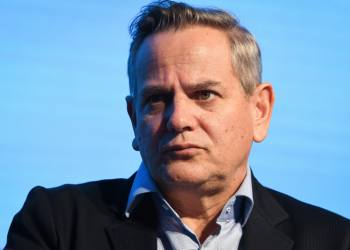 Democratic Camp party chairman Nitzan Horowitz speaks during the Israel Social Cohesion Summit in Airport City on November 5, 2019. Photo by Avshalom Sassoni/Flash90 *** Local Caption *** ????? ???????? ???? ??????? ??? ????  ?????? ??? ????? ????? ??????? ??????
