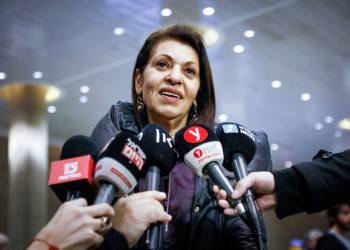 Yaffa Issachar, mother of Naama Issachar, an Israeli-American woman jailed in Russia on drug charges, speaks to the media at the Ben Gurion Airport, as she returns from Russia, on January 19, 2020. Photo by Flash90 *** Local Caption *** ???? ??? ????? ???? ?? ?????? ??? ????? ????? ????? ?????