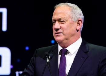 Head of Blue and White party Benny Gantz speaks at the annual international Municipal Innovation Conference in Tel Aviv, on February February 20, 2020. Photo by Avshalom Sassoni/Flash90  *** Local Caption *** ???? ?????  ????? ????? ?????? ??? ??? ???? ???